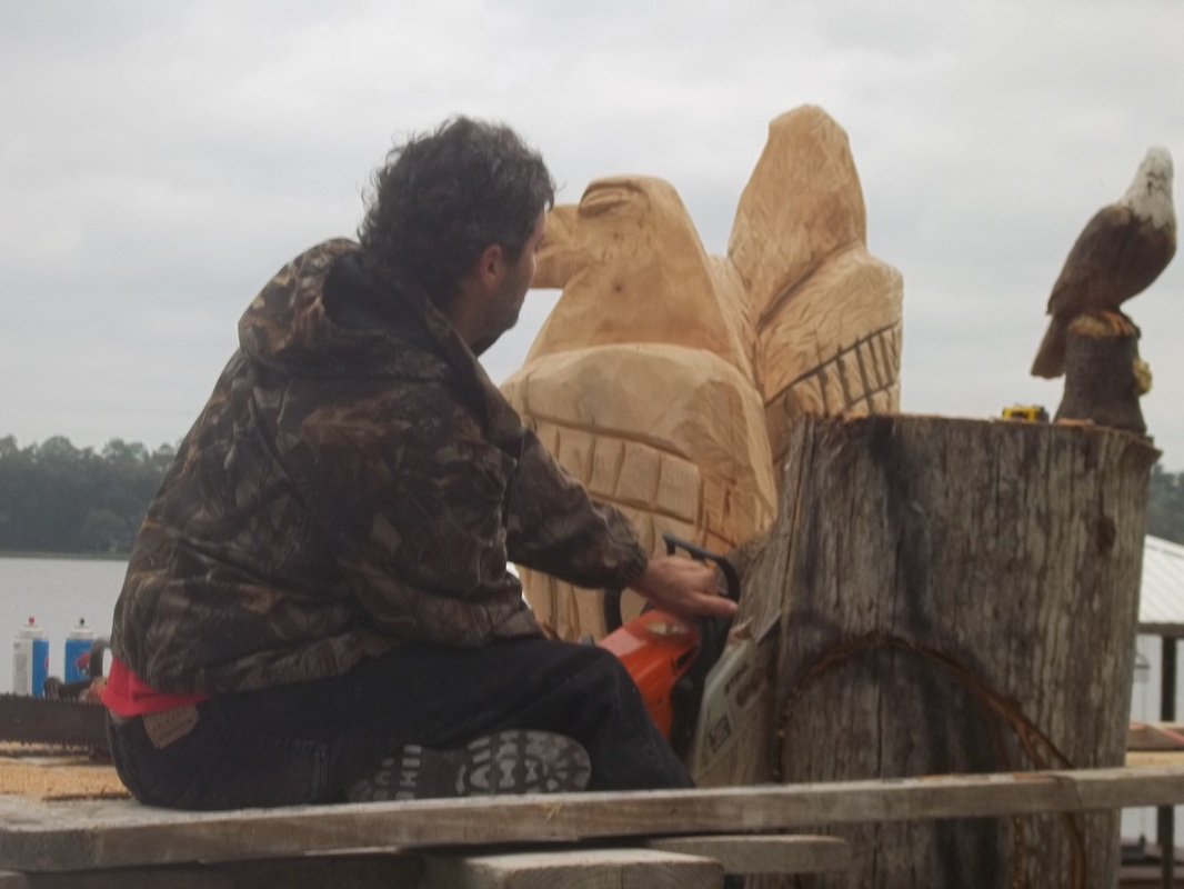 Eagles james custom chainsaw carvings