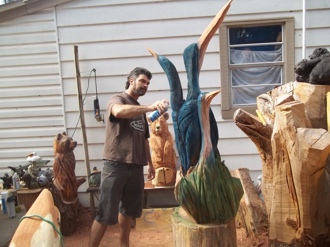 Birds james custom chainsaw carvings