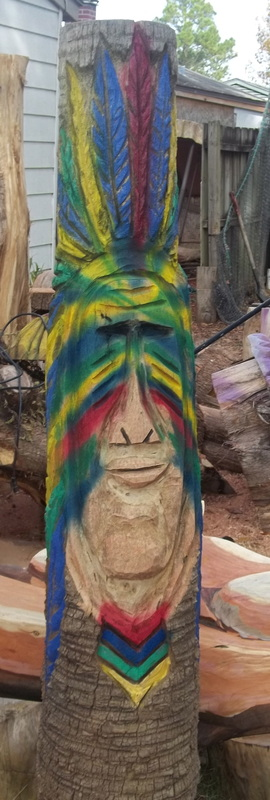 Tiki poles james custom chainsaw carvings
